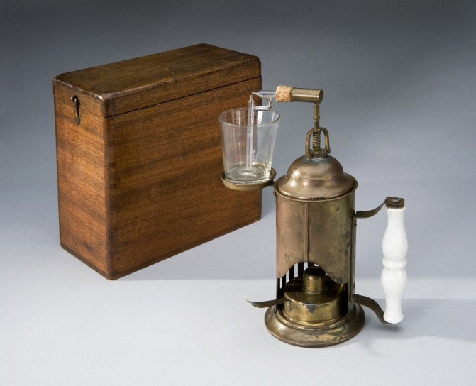 Lister carbolic spray with wooden case