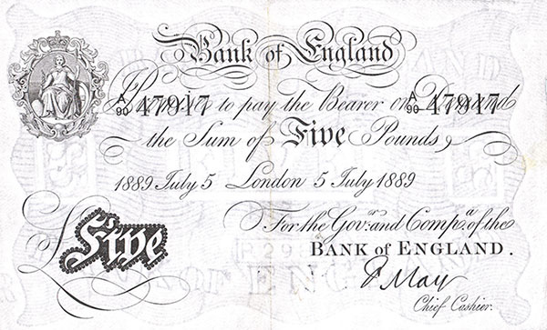 Victorian banknote