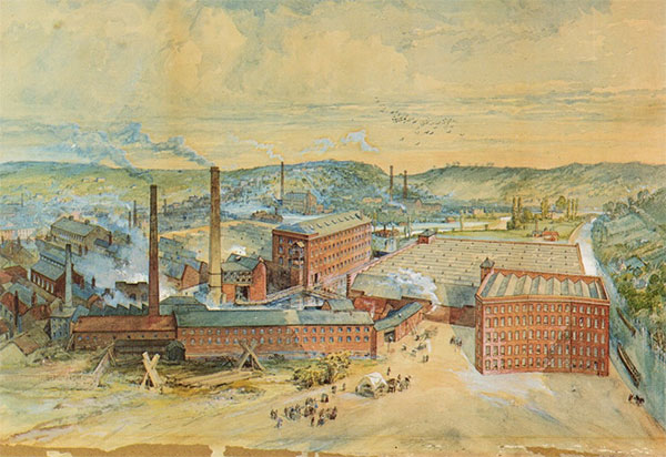 Brintons carpet factory Kidderminster 1870